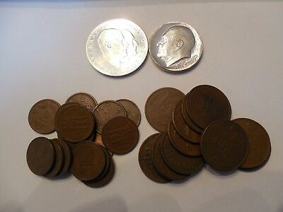 Norway Collection Silver 100 & 25 Kroner & Copper 2 & 5 Ore 1938 - 1960's