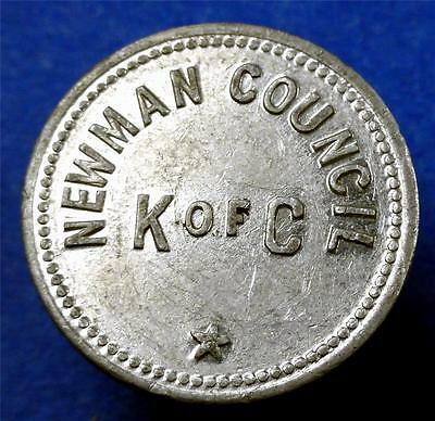 Fraternal Trade Token NEWMAN COUNCIL N of C (KNIGHTS OF COLUMBUS GF10¢ IT ME2677