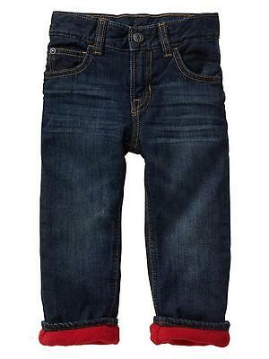 Baby Gap NWT Blue Denim 1969 Red Fleece Lined Straight Fit Jeans 3 3T 5 5T $33