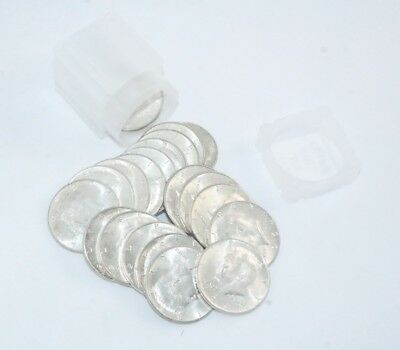 Roll Of (20) Bu 1964 Kennedy 90% Silver Half Dollars $10 Face Val. Free Shipping
