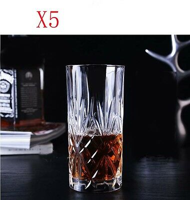 New 5X Capacity 360ML Height 150MM Transparent Cocktail Wine Glass/Glassware %