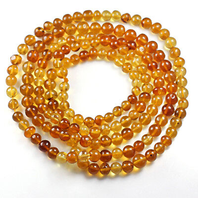 23.56g 100% Natural Mexican Golden Amber Bead Bracelet Necklace CSFb524