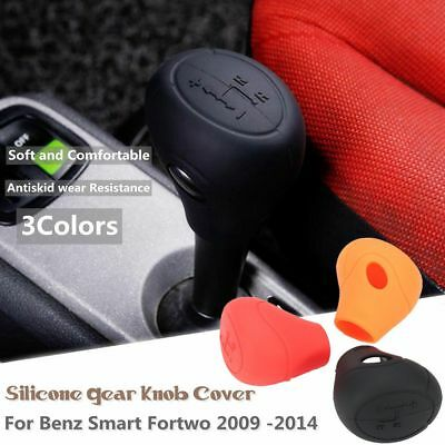 Silicone Gear Head Shift Knob Cover Case For Benz Smart Fortwo 451 Series 09-14