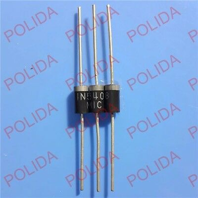 50PCS Rectifier DIODE 3A 1000V MIC DO-201AD ( DO-27 ) 1N5408 IN5408