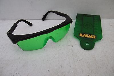 Dewalt De0730G Target Card & De0714G Glasses For Green Laser Line Levels Dce088