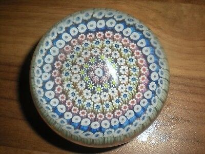 Vintage Scottish Perthshire ??? Millefiori  Glass Paperweight