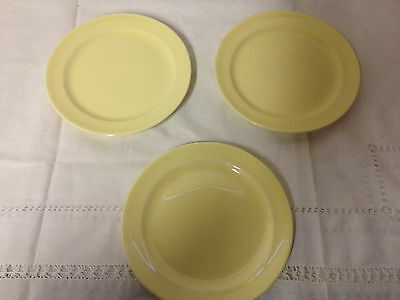 3 T S & T Luray Pastel Yellow Bread Dessert Plates