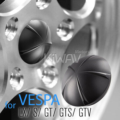 VAWiK CNC Anodizing Aluminum Wheel Hub nut cover black for Vespa GT