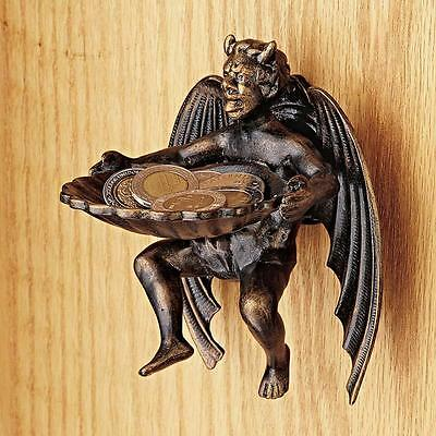 Devil Inside Cast Iron Demon Home Garden Wall Mounted Shell Font NEW