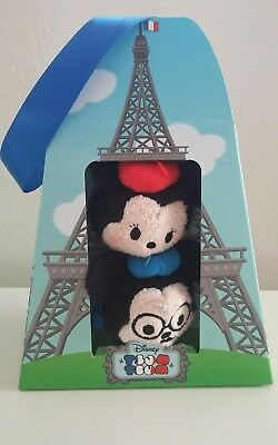 BNIB Disney Store Mickey & Minnie PARIS FRANCE Tsum Tsums