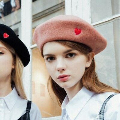 9b1851a97dd Winter Warm Beret Hat With Embroidery Cap Fashion Classic Hat Beanie For  Women