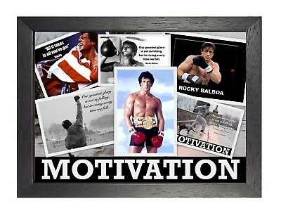 Rocky Balboa Mix 2 Photo Poster Sylvester Stallone Motivation Inspiration Print