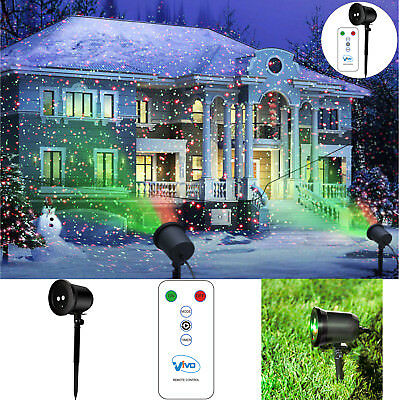 Outdoor Laser Lights Star Shower Led Projector Projected Christmas Xmas Remote