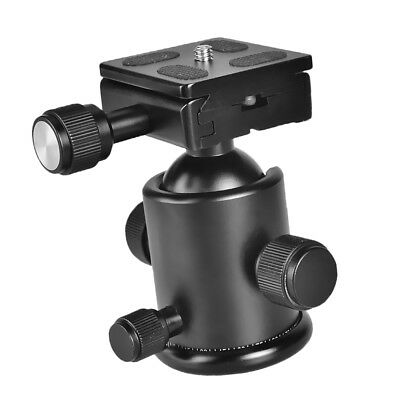 """KS-0/1 Camera Tripod Ball Head Adapter with Quick Release Plate 1/4"""" Screw"""