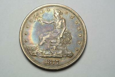 1877-S Trade Dollar, Nicely Toned, XF Condition - C4392