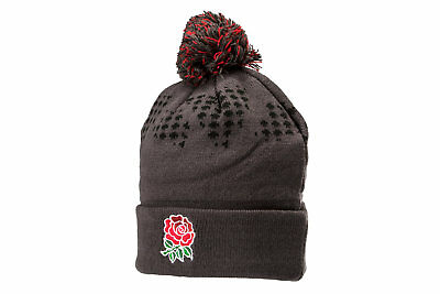 Canterbury Mens England 2017/18 Acrylic Rugby Bobble Hat
