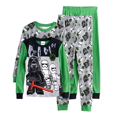 Boys STAR WARS 6 8 10 LEGO Pajamas Shirt Pants One Set Darth Storm Troopers NEW