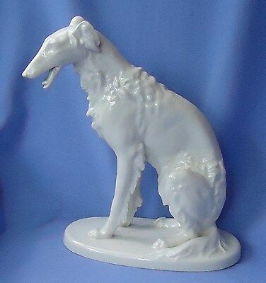 """1920s BORZOI 11"""" VOLKSTEDT GERMANY"""