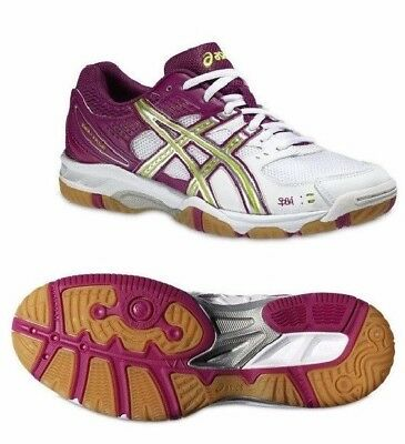 B354N Womens asics Gel Task Volleyball Handball indoor Court Shoes Trainers 5.5