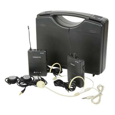 Chord 171.920 UP2 Portable UHF Wireless System 2 Channel w/ Neckband Mic - Black