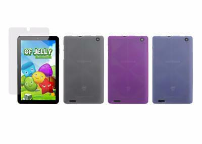 """TPU Cover Case and Screen Protector for Digiland DL8006 8"""" Inch Tablet 2017"""