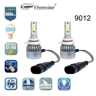 2x 9012 HIR2 LED Headlight Bulb High/Low Beam Kit 80W 6000K Philips Flip Chip