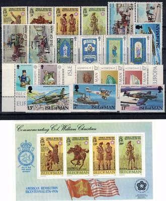 ISLE OF MAN 1976/78 22v + 1 sheetlet MNH / B15328