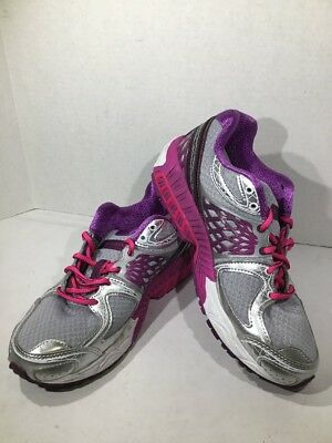 New Balance 13040V2 Womens Size 8.5 Silver/Purple Athletic Running Shoes ZN-1033