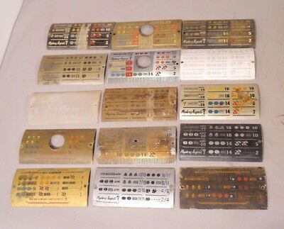 A Lot Of 15 Mills High Top Slot Machine Curved Metal Award Cards