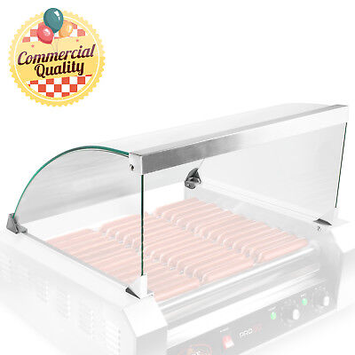 Glass Cover ONLY for Hot Dog 11 Roller Grill Cooker - Replacement or Upgrade