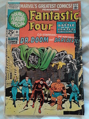 Marvels Greatest Comics 31, Fantastic Four 39, 40, Jack Kirby art on Daredevil