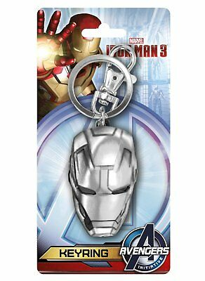 Metal Key Chain - Marvel - Iron Man Head Pewter Keyring Gifts Toys New 67966
