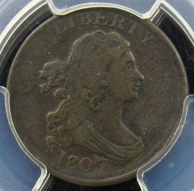 1807 Draped Bust Half Cent -PCGS VF25- Certified Graded Copper ½ Cent