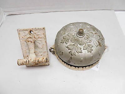 Antique Victorian Ornate DoorBell Complete With Lever, PAT 1870-1880, Sargent