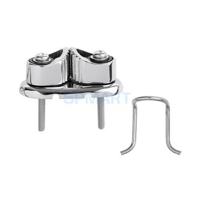 Fast Entry Boat Cam Cleat with Wire Fairlead - 316 Marine Stainless Steel