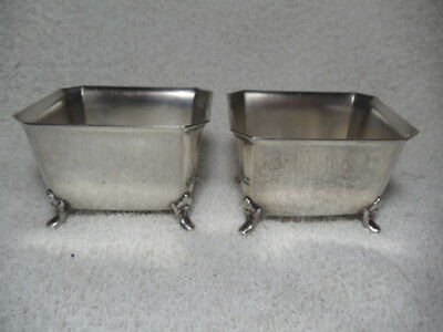 Vintage  International Silver Co. Silver Plate Nut Cups  LOT OF TWO