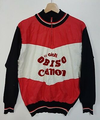 Maglia Bici G.S.Cicli Obiso vintage 70'. Maillot Shirt jersey cyclist Sp. Canon