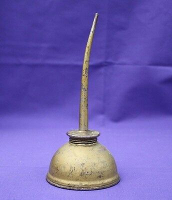 Vintage Eagle Oil Can Made in USA Curved Spout Mini Oiler Thumb-Pump 7""