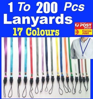Bulk New 2 to 50 Lanyards Neck Strap for Badge Mobile Phone USB Flash