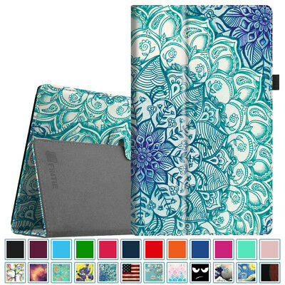 Fintie For Amazon Fire HD 10 Tablet 7th Gen 2017 Folio Leather Case Cover Stand