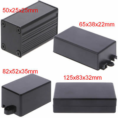 DIY Waterproof Electronic Project Instrument Case Box Connector Aluminum Black