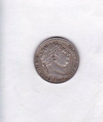 1817 George Iii Sixpence In Very Fine Condition