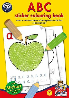 Orchard Toys ABC Kids/Children's Educational Sticker and Colouring Book BN