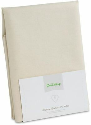 The Little Green Sheep ORGANIC MATTRESS JUNIOR BED PROTECTOR 90x190cm Cotton BN