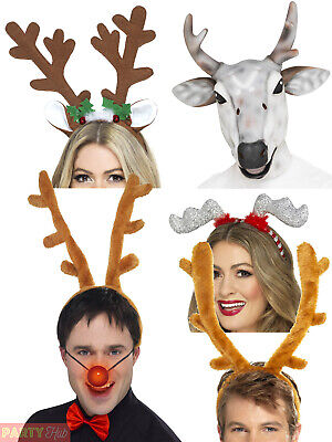 Adults Reindeer Accessories Christmas Fancy Dress Costume Accessory Mens Ladies
