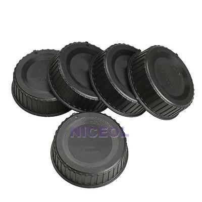 5Pcs Plastic Rear Lens Cap Cover for All Nikon AF AF-S DSLR SLR Camera LF-4 Lens