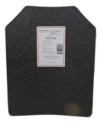 Level III AR500 Steel Body Armor Single 11x14 Curved Plate - Full Frag Coating