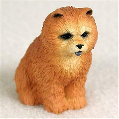 Chow Chow Red Dog Tiny One Miniature Small Hand Painted Figurine