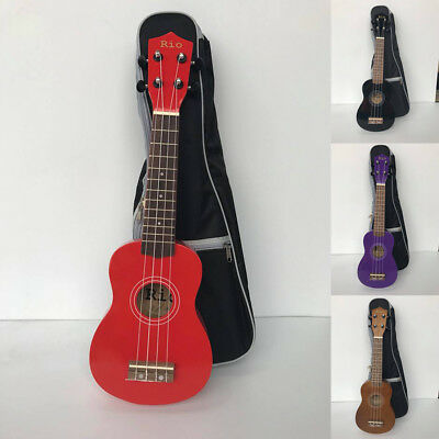 Rio Beginner Soprano Ukulele With Padded Bag