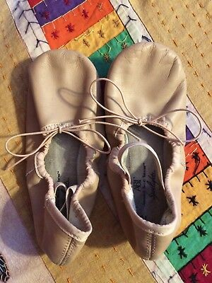 ABT American Ballet Theatre Ballet Slippers pink leather dance shoe size 13